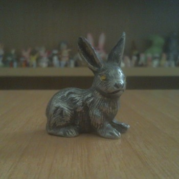 Bunny made of pewter - Animals