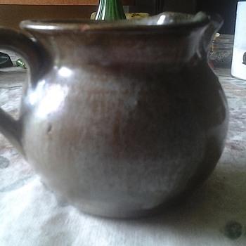 seagrove pottery creamer