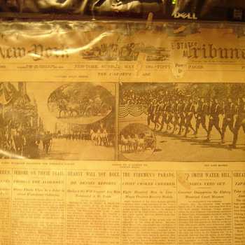 New York Tribune - 1904 Firemen's Parade - Paper