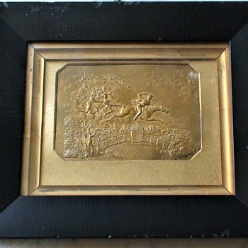 Tam O'Shanter Poem By Robert Burns Embossed Brass Scene Circa 1820  - Fine Art