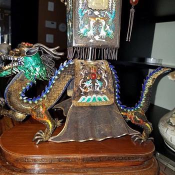 Vintage Dragon Large Figurine