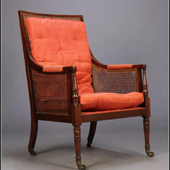 Regency library chair. - Furniture