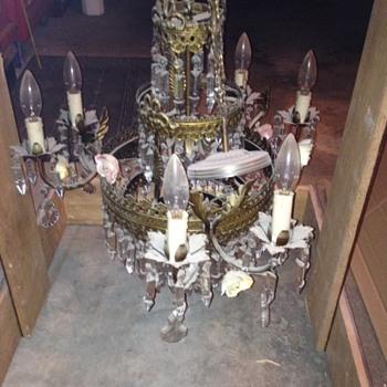 Antique Chandelier ..need help - Lamps