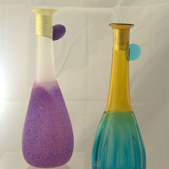 Two Japanese vases maker not known - Art Glass