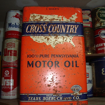 old motor oil  tins - Petroliana