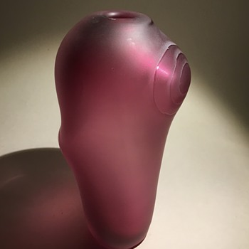 Vase in acid matte finish. Signed Jelisk?? - Art Glass