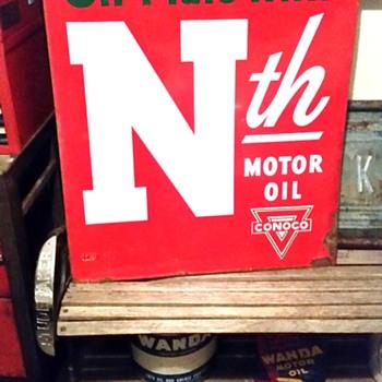 Old Conoco sign - Petroliana