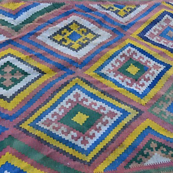 Large Turkish Kilim - Rugs and Textiles
