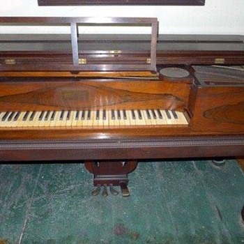 Timothy Gilbert Combination Grand Square Piano Harmonium ( reed organ) circa 1856  - Musical Instruments