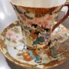 Nippon hand painted cup and saucer set