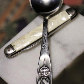 Cromargan Germany Space Age Spoon - 50s? Nice!! - Mid-Century Modern