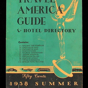 ~~1938 TRAVEL AMERICA GUIDE & HOTEL DIRECTORY~~ - Books