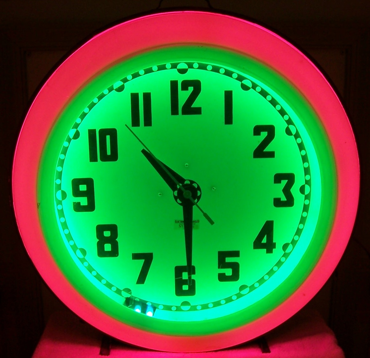 Mid century eames era neon diner clock collectors weekly amipublicfo Images