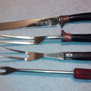 another handful of old serving utensils with bakelite handles - Kitchen