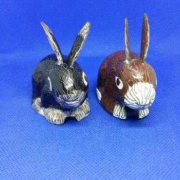 Two metallic Rabbits - Animals