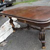 Victorian Dining table ornate extends to 8 Ft..