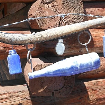 Horse Collar Hames With Bottles and Barbed Wire Decoration Thing - Bottles