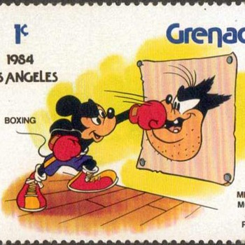 "1983 - Grenada ""Disney/Olympics"" Postage Stamps - Stamps"