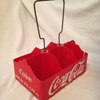 1950's Coca-Cola 6-pack Plastic Carrier - Coca-Cola