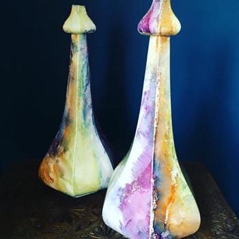 Art Nouveau ??? Arabia Finland 1917 - 1927 Pair of  Lustre Vases