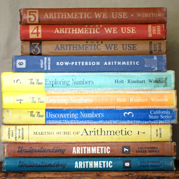 My Vintage Arithmetic Book Collection - Books