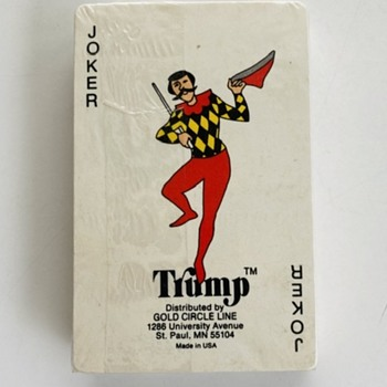 "Gold Circle Line Playing Cards ""Trump"" as the Joker - Cards"