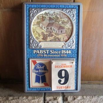 Pabst Calendar - Breweriana