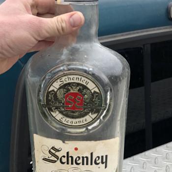 schenley reserve 8 year old whiskey bottle - Bottles