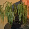 Kitschy little 'tree' w/ pressed glass 'leaves' - Asian