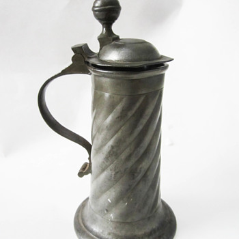 Swiss Stize or Flagon by Abraham Ganting of Bern About C 1750 - Read my harrowing story about this. - Breweriana