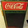1930's Coca Cola menu tin sign