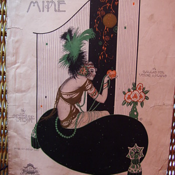 "ALBERTO VARGAS SHEET MUSIC, 1920, ""SWEETHEART OF MINE"" - Music Memorabilia"