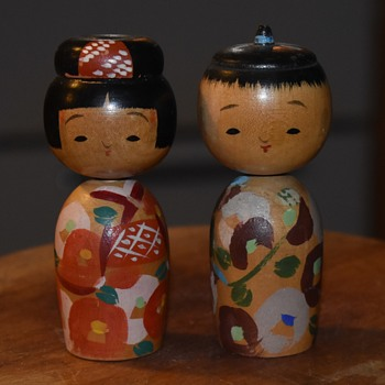 Kokeshi Couple - Dolls