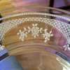 Clear Depression Era Bread Plates with Fluted Rim