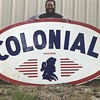 Happy Memorial Day !!! Colonial Gasoline porcelain sign Jacksonville Florida.