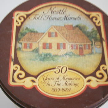 Vintage Nestle Toll House Morsels Tin Can 50 Year Anniversary 1939-1989
