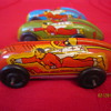 1947 Fawcett Publications Automatic Toy Corp Captain Marvel Metal Cars #1, 2, and 4