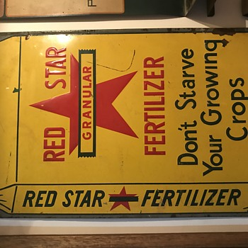 Red Star Fertilizer sign - Signs