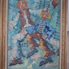 CLOWNS OIL PAINTING UNKNOWN ARTIST SIGNED