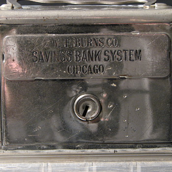 "Promotional Advertising Steel Bank""Salesman Sample""W.F.Burns Co - Advertising"