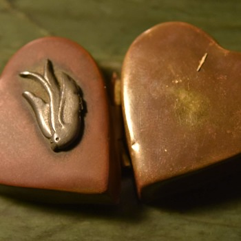 Copper and Silver Heart Locket - Fine Jewelry