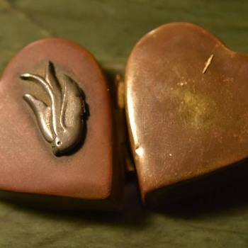 Copper and Silver Heart Locket - Fine Jewelry