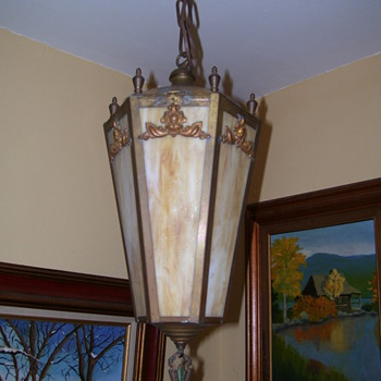 My new old front light - Art Deco