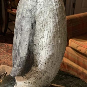 Old Penguin Garden Statue - Animals