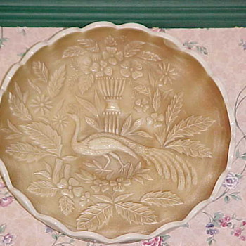 Northwood Custard Peacock & Urn Large Ice Cream Bowl - Glassware