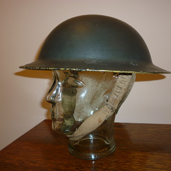 British WWII 8th Army desert steel helmet.