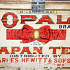 Antique OPAL BRAND TEA BOX made by Charles Hewitt & Sons Co.