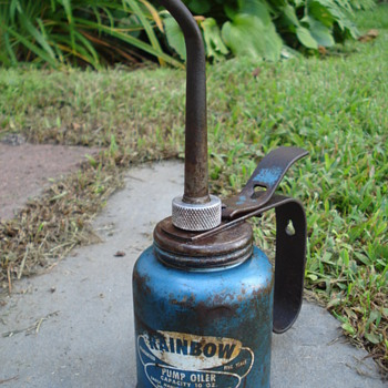 Vintage Rainbow Eagle Pump Oiler - Petroliana