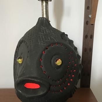 Mid century modern fish lamp. - Mid-Century Modern