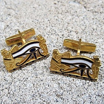 Tutmania - Cufflinks MMA 1976 - Costume Jewelry